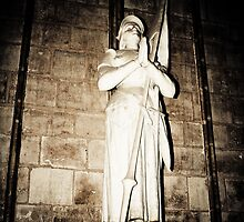 Joan of Arc Statue at Notre Dame, Paris, France by kbudz