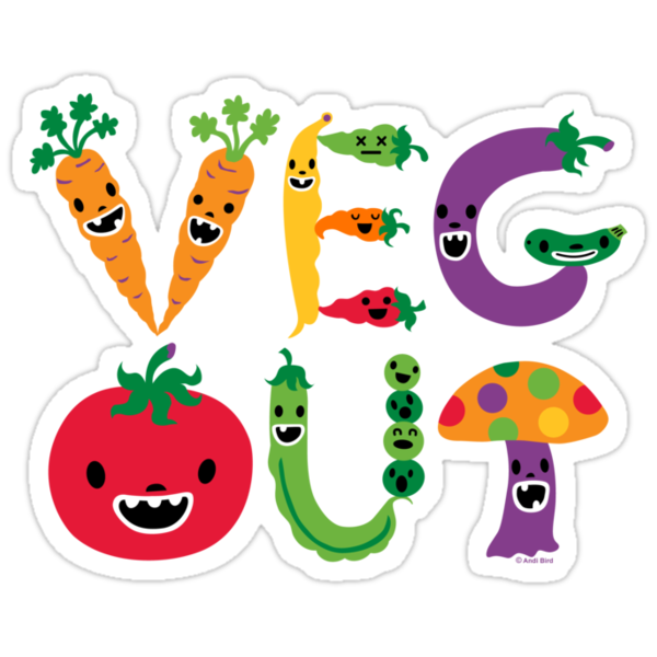 Veg Out - yellow  by Andi Bird