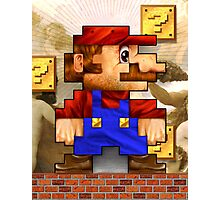 Super Mario Realistic Pixelated Photographic Print