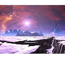 Earthquake Chasm on Alien Planet Photographic Print