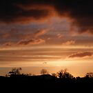 Winter Sky Burn  Under  Limavady Sky Co. Derry, Ireland by mikequigley