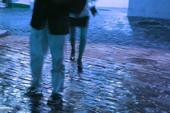 blue loafers in the rain by schadenfreude