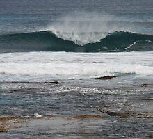Surf eruption, Hanson Bay, S.A. by elphonline