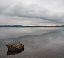 Lone Rock at Lake Maumelle by davidsimmons