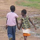 African Children taking a Stroll by Caroline Pugh