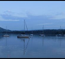 Sail Boats - Ambleside at Dusk  by Michelle Booth