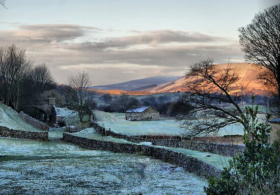 A Touch Of Frost In Swaledale by Sandra Cockayne