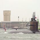 USSN Submarine  leaving Portsmouth 2010  by Stephen Kane