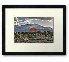 Pike's Peak and Garden of the Gods Framed Print