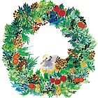 Holiday Wreath by Carole Chaplin
