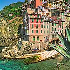 Riomaggiore by Nigel Fletcher-Jones
