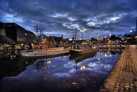 Coventry Canal Basin at Night