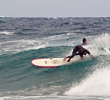 Surfer, Snapper Rocks, Qld, 28112010 #1 by Odille Esmonde-Morgan