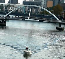 Crossing the Yarra River by Janette Anderson