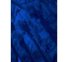 Hand abstract in blue Photographic Print