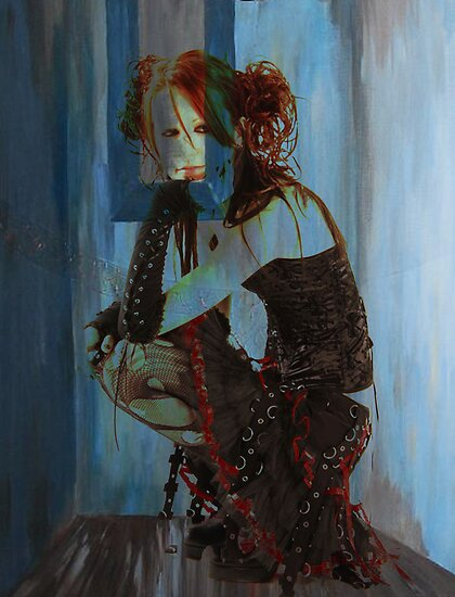 BLUE ROOM ~ RED HAIR by Tammera