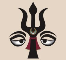 Eyes of Shiva with Trident by shantitees