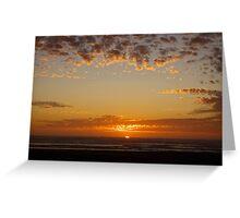 last light at grayland, wa, usa Greeting Card