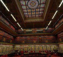 Old Style Elegance - The Reading Room , NSW Parliament House , Sydney Australia - The HDR Experience by Philip Johnson