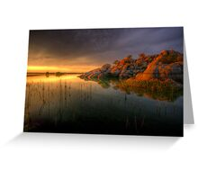 Willow Rock Sunset Greeting Card