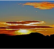 Mojave Sunset Dos by Chet  King