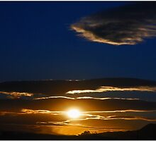 Mojave Sunset Tres by Chet  King