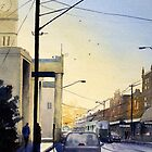 Sunrise over Richmond Town Hall, Melbourne by Joe Cartwright
