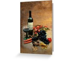 Wine and grapes Greeting Card
