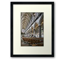 Salisbury Cathedral Nave Framed Print