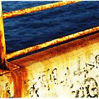 Rusty Barcelona Sea Rail by Rebecca Eldridge