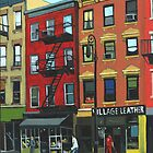 The Village Leather - N.Y.C. by LindaAppleArt