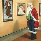 Museum Visitor - Santa Christmas by LindaAppleArt