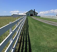 Farmhouse and Fence by Frank Romeo