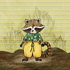 Raccoon Standa by Rencha