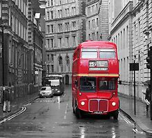 Red Bus by Mark Thompson