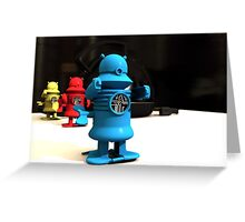 Kitchen Toy Robot Helpers Greeting Card