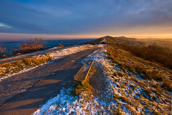 Malvern Hills:Winter Gold by Angie Latham