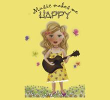 Music makes me HAPPY by Kristy Spring-Brown