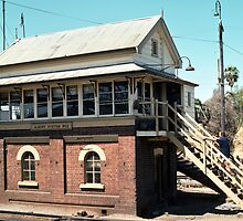 198211200010 Albury station signal box by Fred Mitchell
