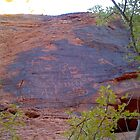 petroglyph wall by elh52