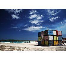 Rubiks Cube at Maroubra Photographic Print