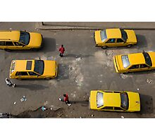 Taxis on Broad Street in Monrovia, Liberia Photographic Print