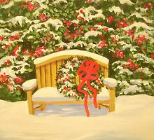 A HOLIDAY BENCH by Dian Bernardo