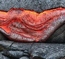 lava breaking out of rock HDR by Flux Photography