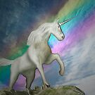 Unicorn with rainbow by Carol and Mike Werner