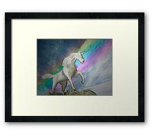 Unicorn with rainbow Framed Print