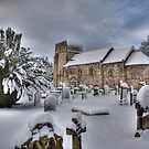 St Cuthbert's in the snow by Tom Gomez