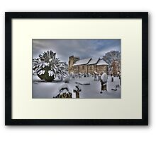 St Cuthbert's in the snow Framed Print