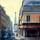 Eiffel Tower &amp; Rue Saint Dominique Paris by marshstudio