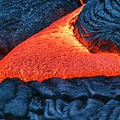 fresh lava oozing out of a crack by Flux Photography